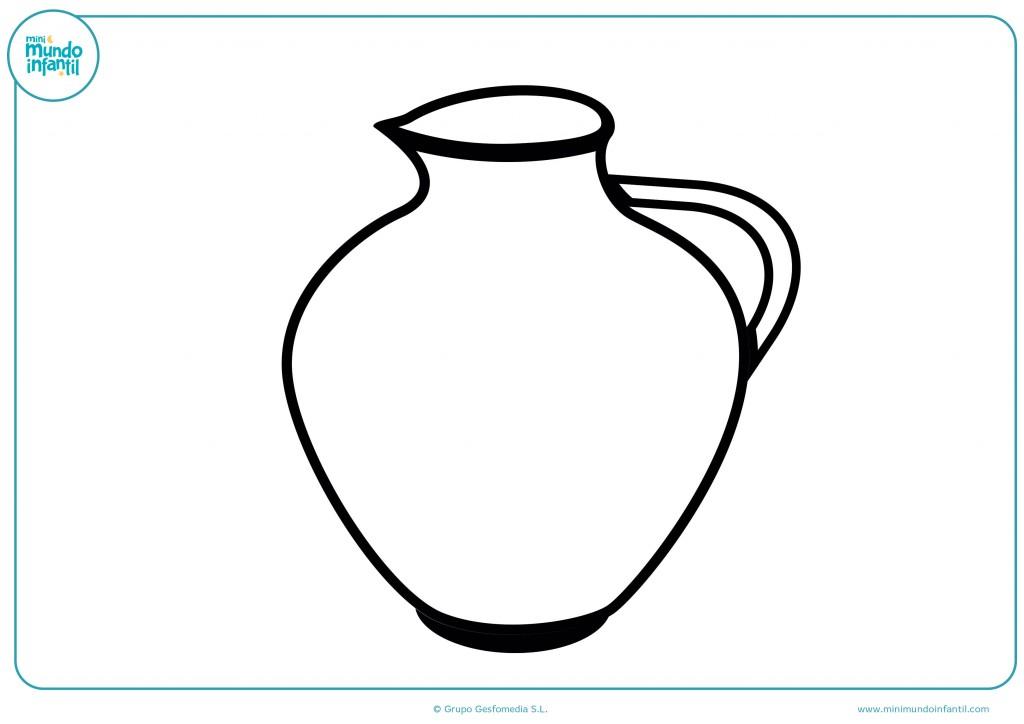 Decora con colores el dibujo de un jarrón