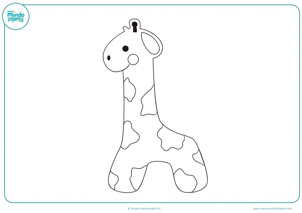 Colorea como más te guste el muñeco de la jirafa