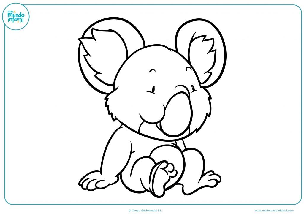 Colorea el koala cariñoso y no te olvides de sus orejas peludas