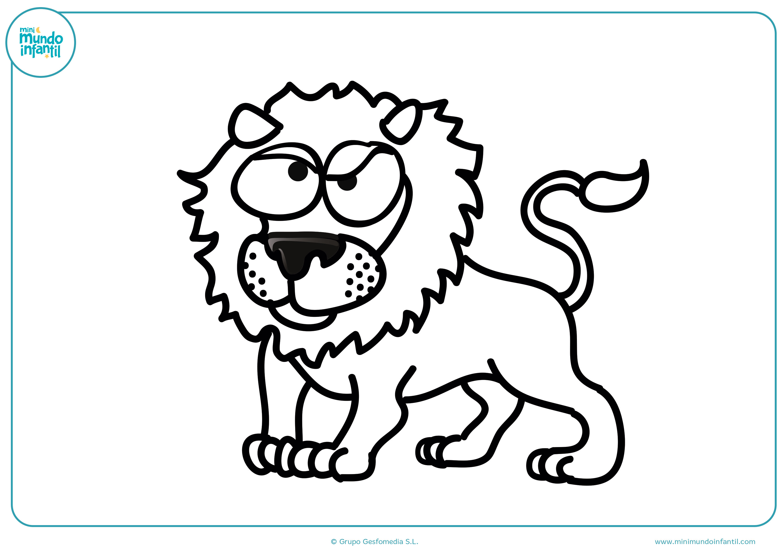 Dibujos colorear animales carnívoros