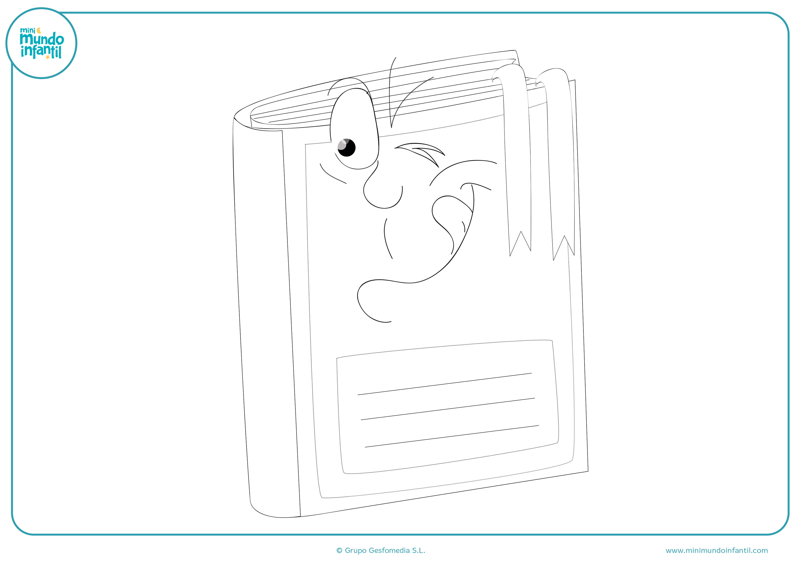 Descargar dibujo escolar material colorear gratis