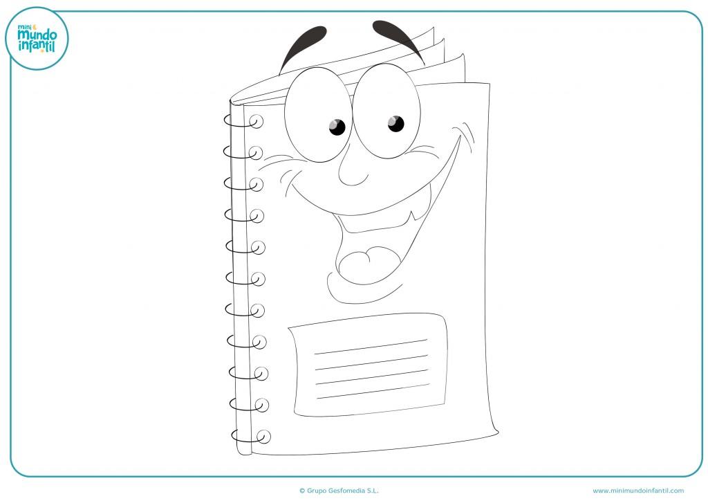 Descarga el dibujo del libro alegre para colorear