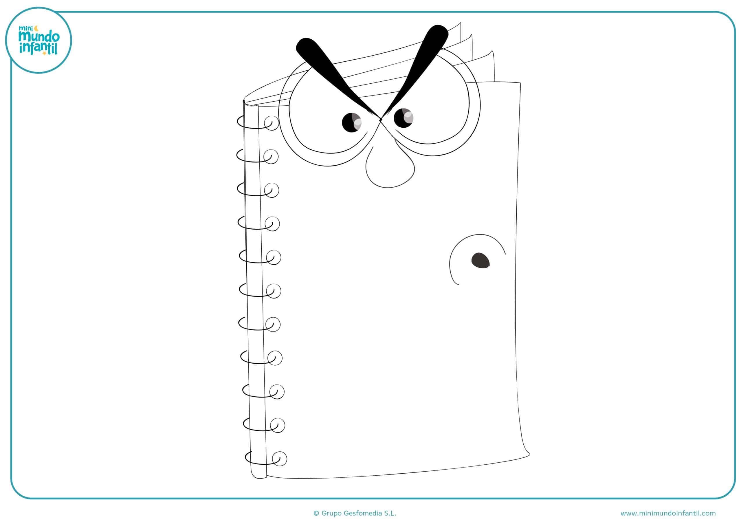 Imprimir dibujos material escolar
