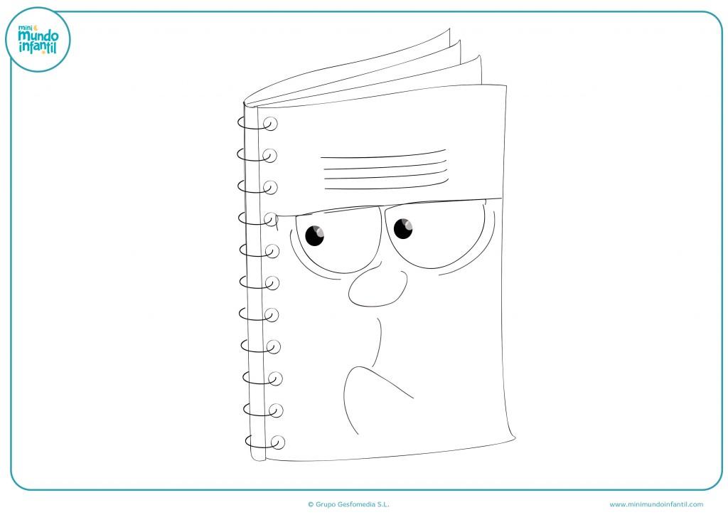 Descarga el dibujo del cuaderno con espirales