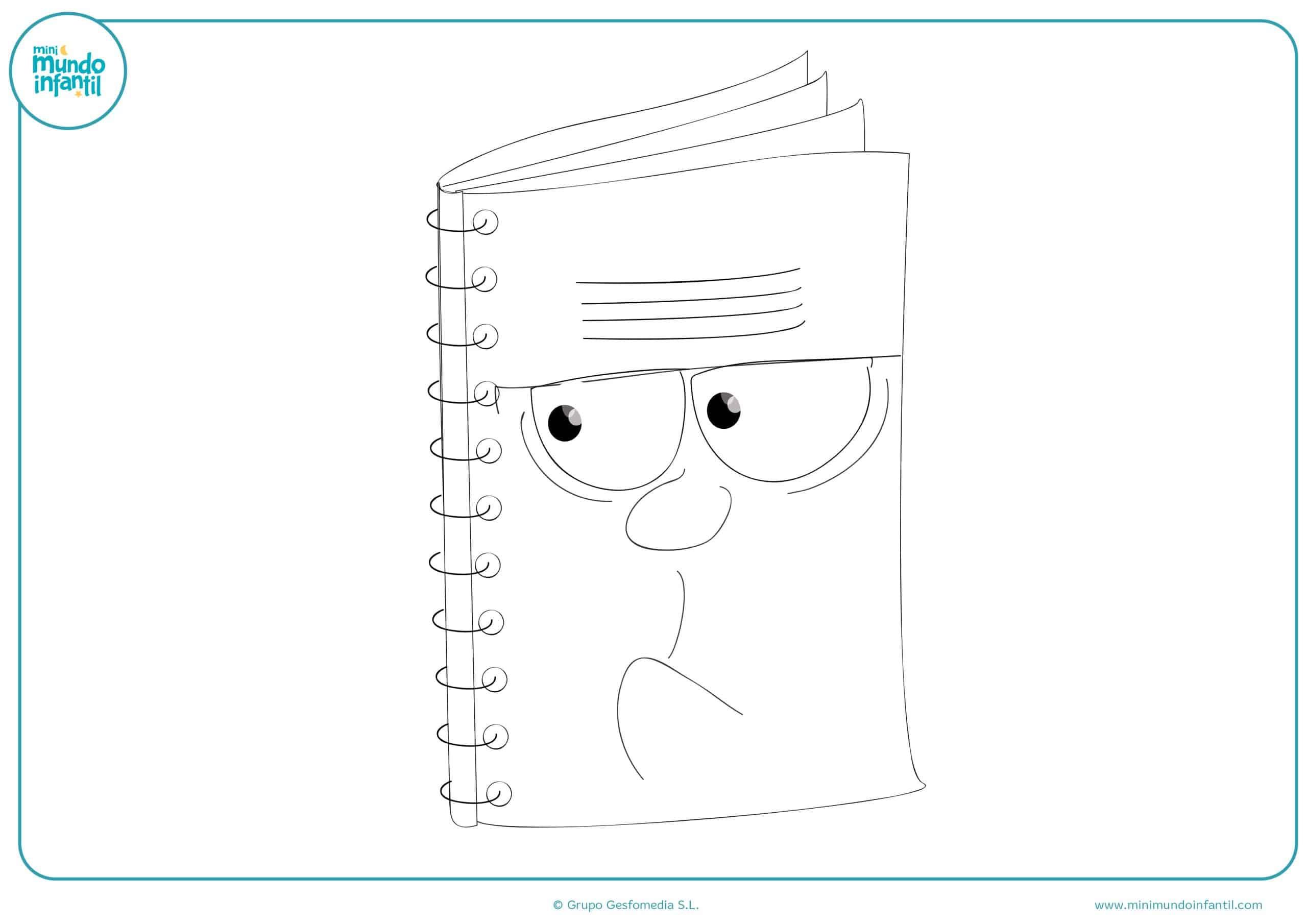 Dibujos material escolar para niños y niñas