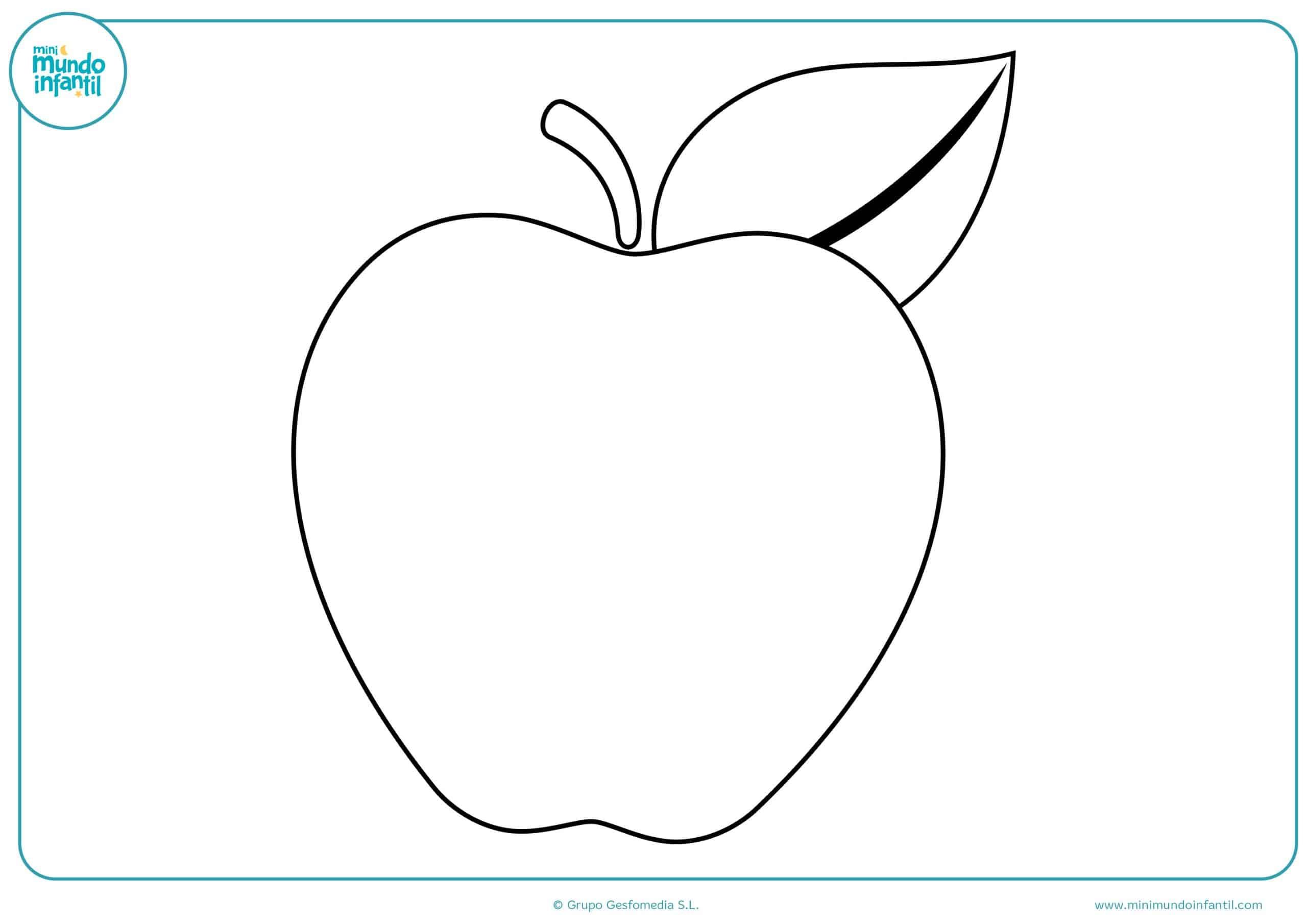 Dibujos colorear frutas niños