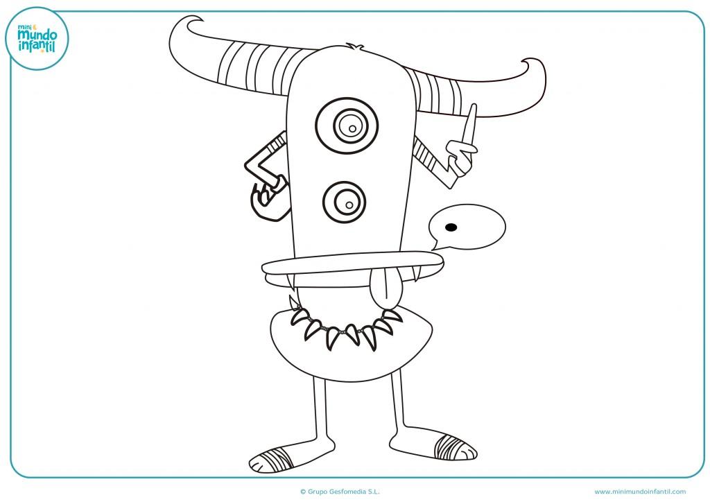Descarga el dibujo del extraterrestre con los ojos juntos