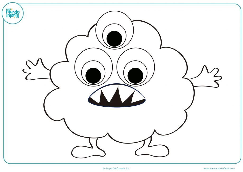 Dibujo de un extraterrestre con tres ojos