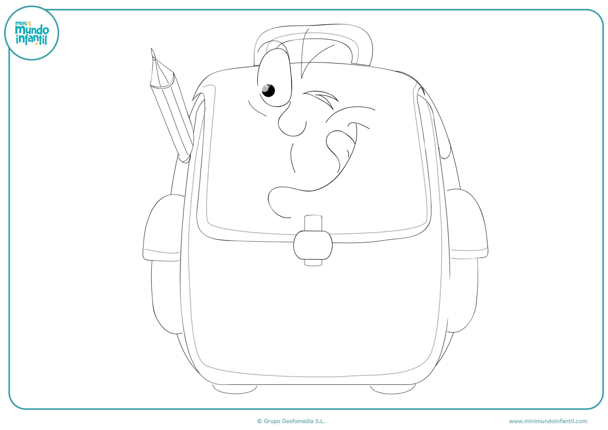 Dibujos gratis colorear material escolar