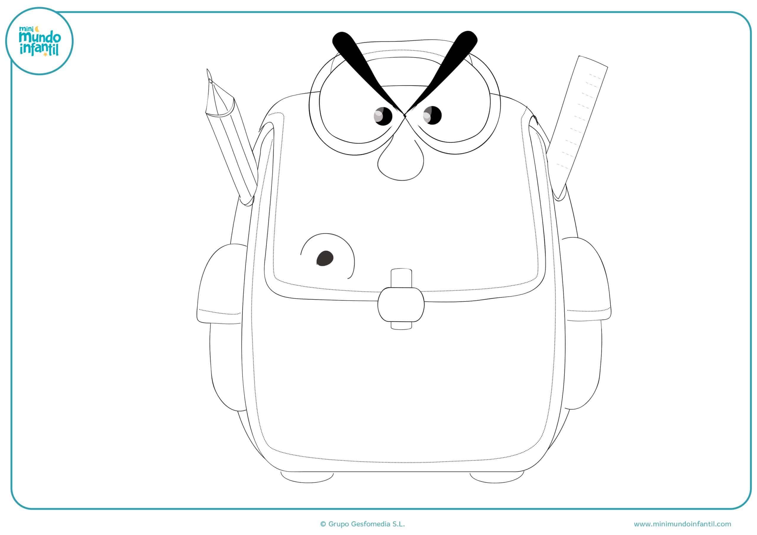 Colorear material escolar para dibujar