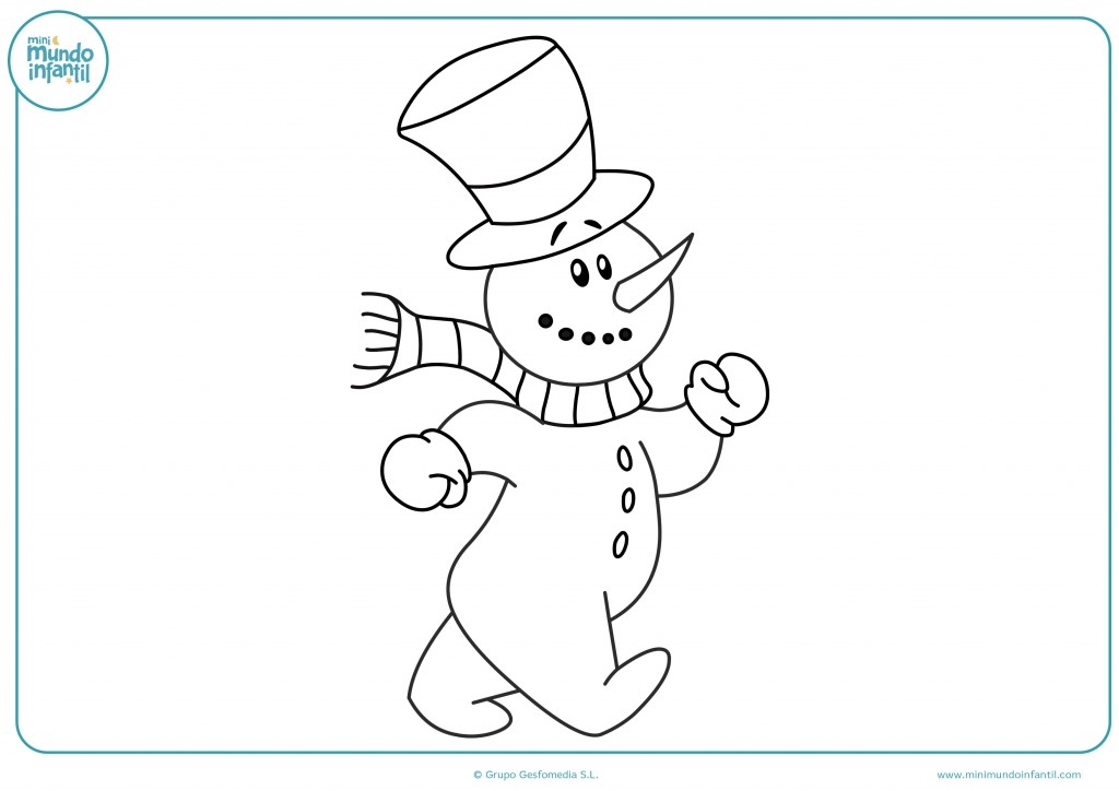 Pinta de colores este muñeco de nieve