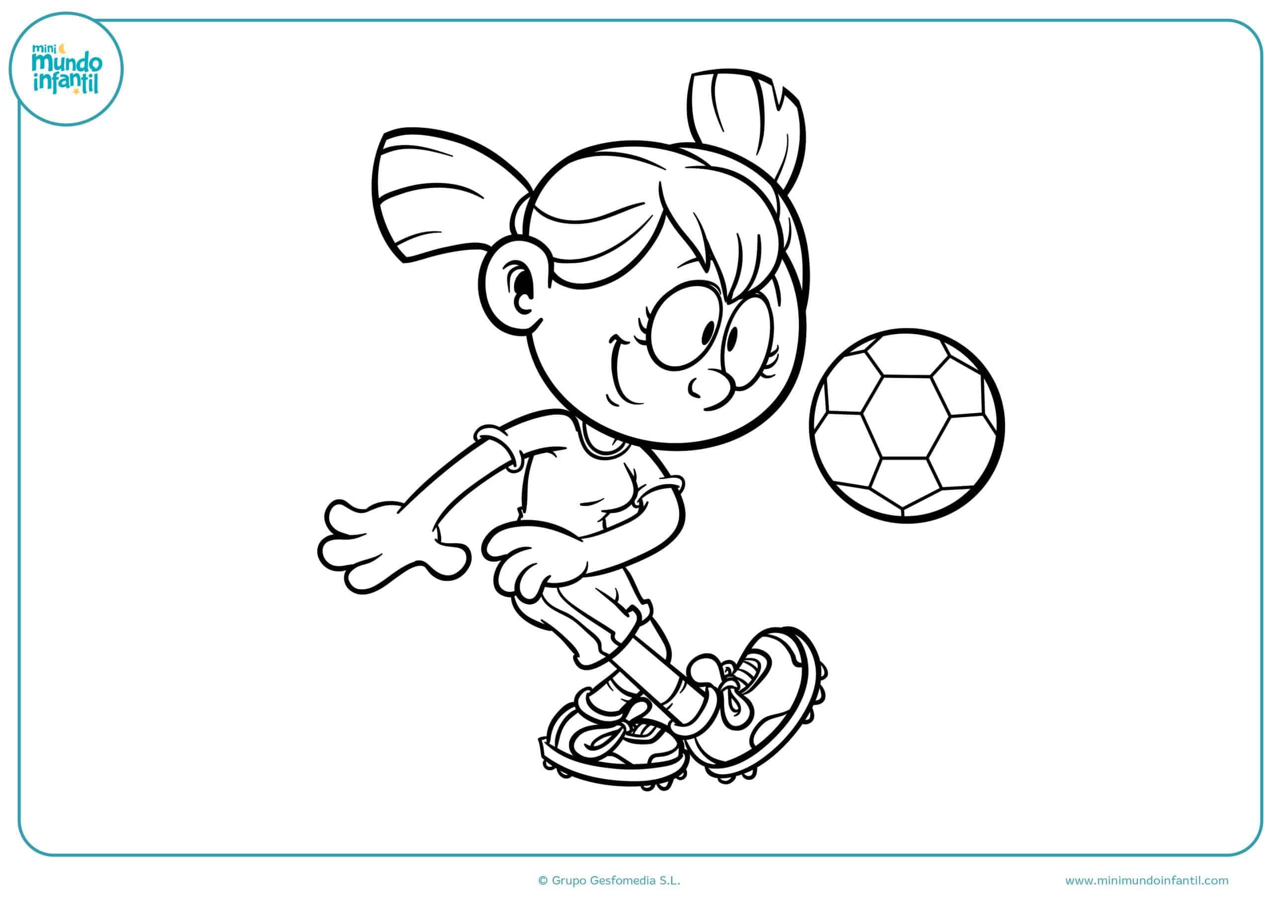 Dibujo De Jugando A Fútbol Para Colorear: Los Mejores Dibujos De Fútbol Para Colorear E Imprimir