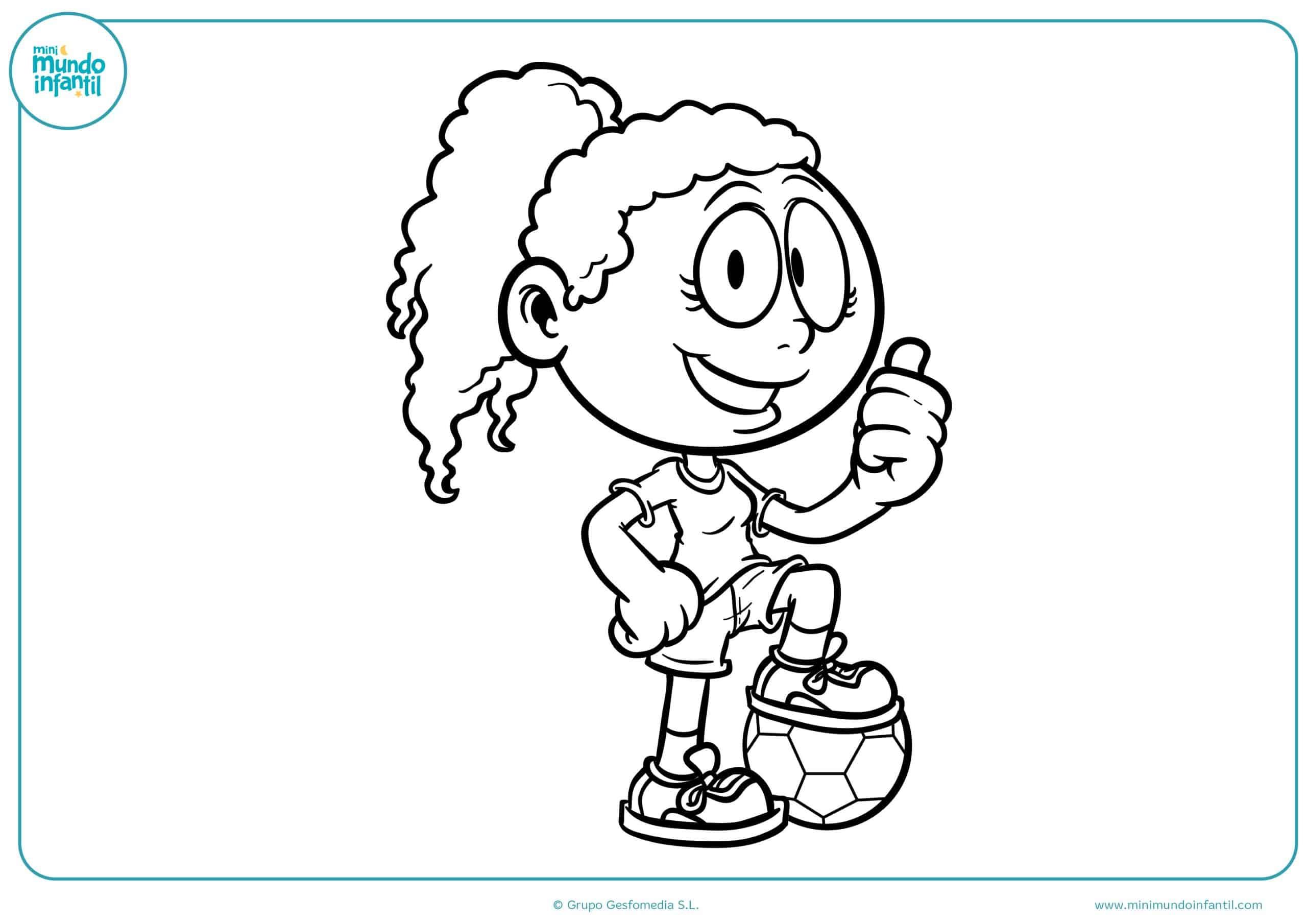 Dibujo Para Colorear De Niñas: Los Mejores Dibujos De Fútbol Para Colorear E Imprimir