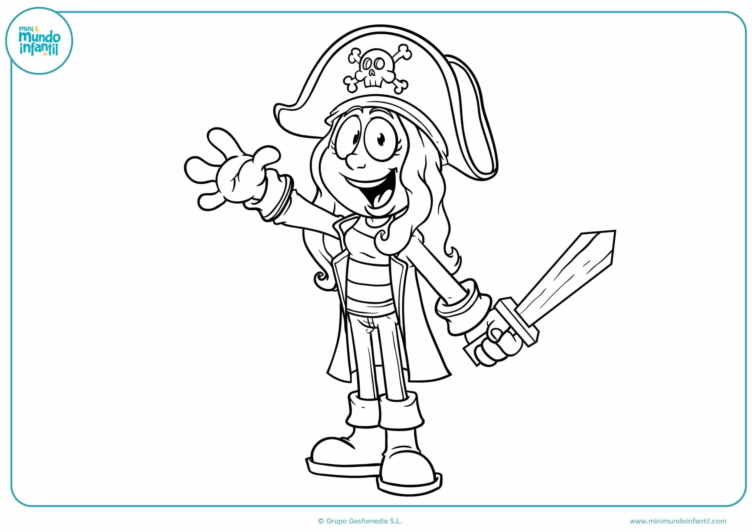 Dibujos de Piratas para colorear - Mundo Primaria