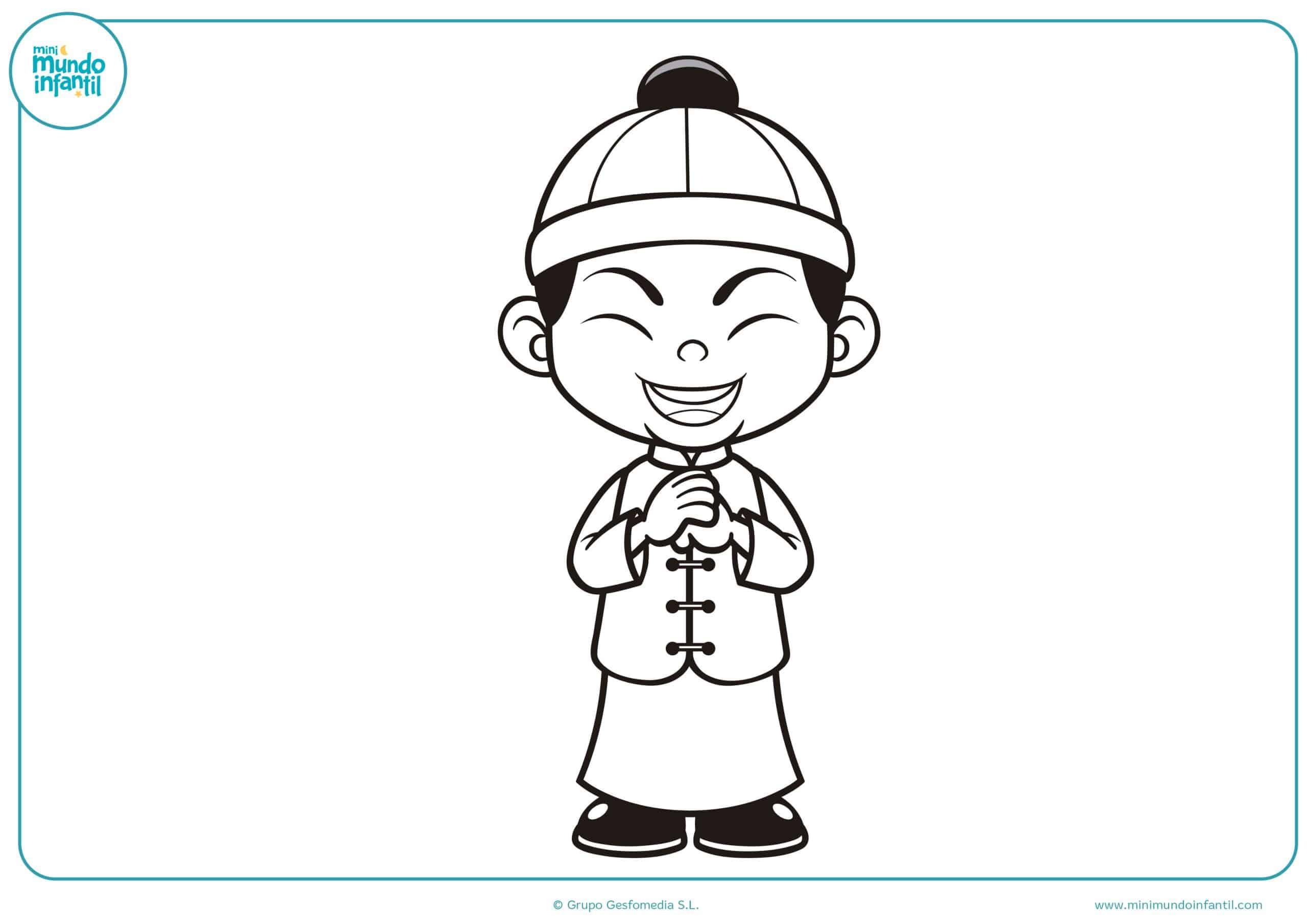 Contemporáneo Página China Para Colorear Colección - Enmarcado Para ...