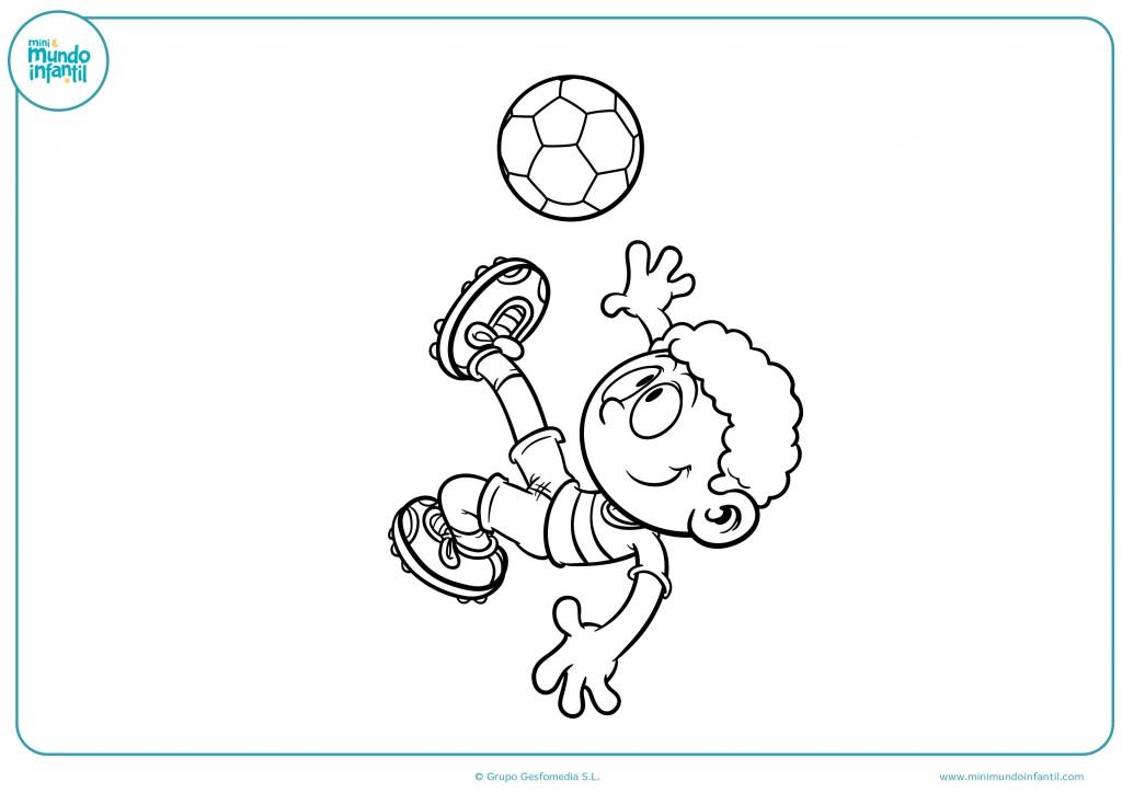 Pinta con rotuladores el niño futbolista