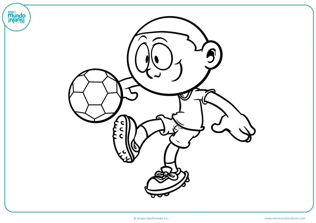 Pinta al futbolista con el pelo corto