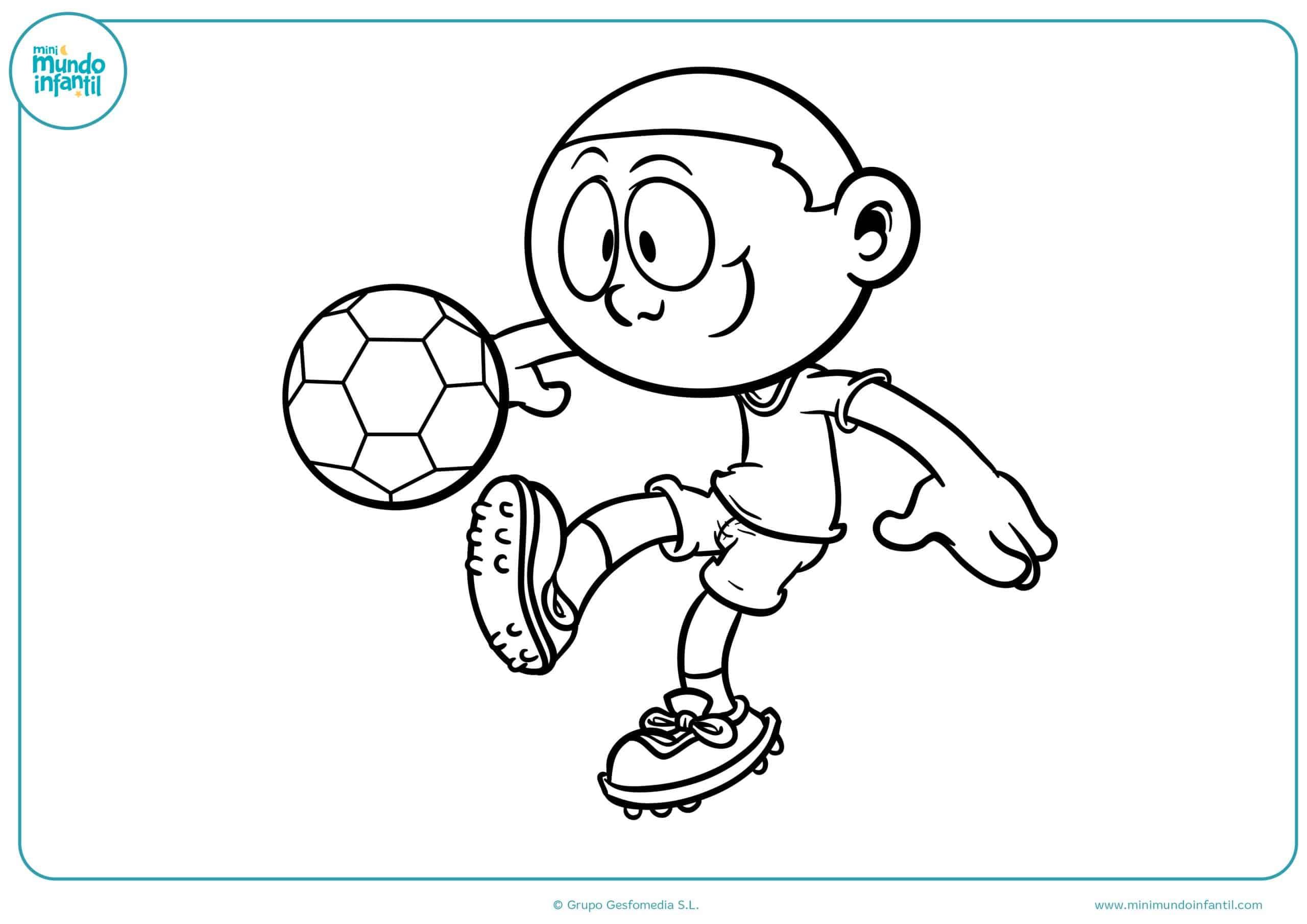 Dibujo De Jugando A Fútbol Para Colorear: Novo Dibujos Para Colorear De Niños Jugando Futbol 2018
