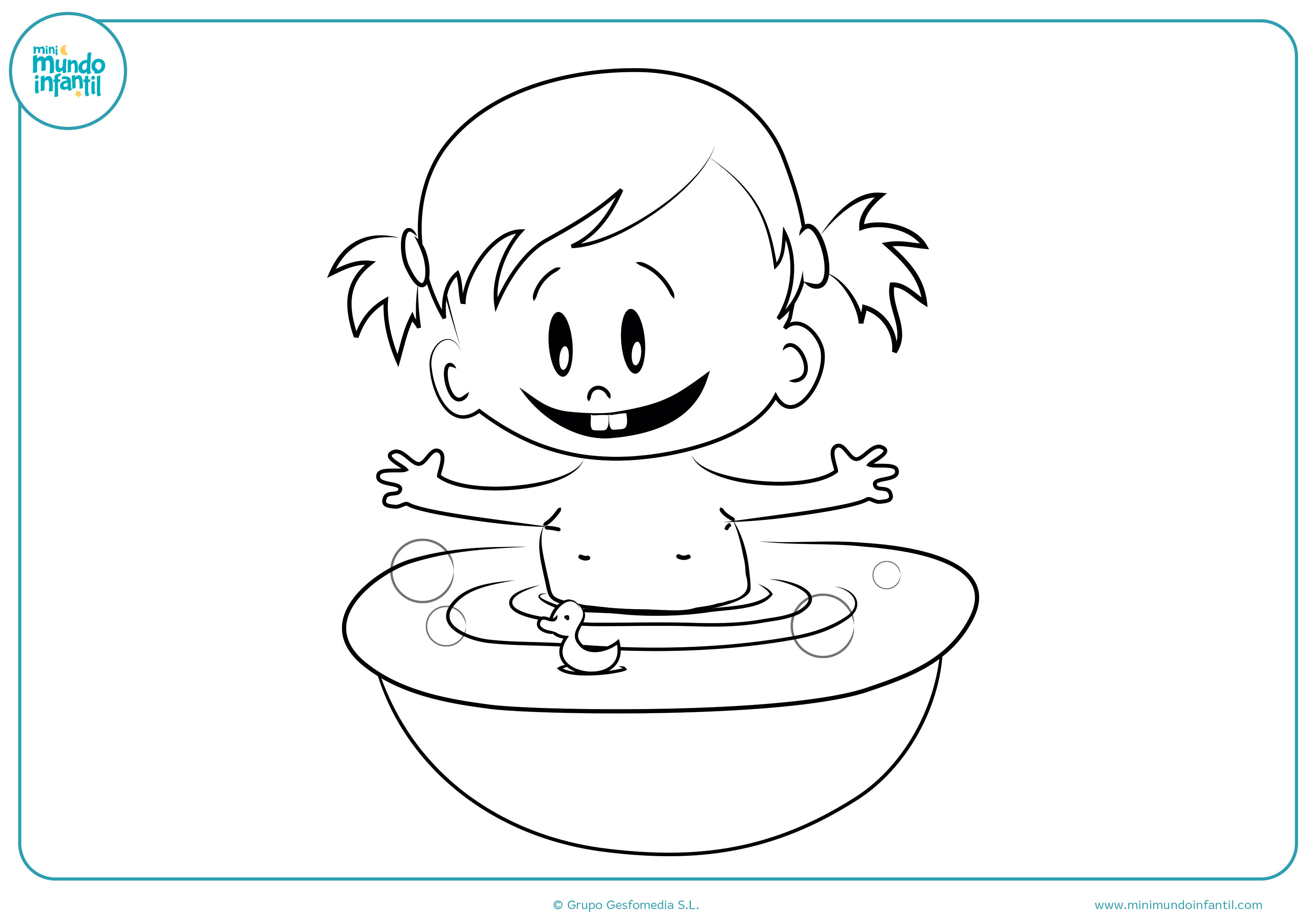 Descargar dibujos niñas niños colorear gratis