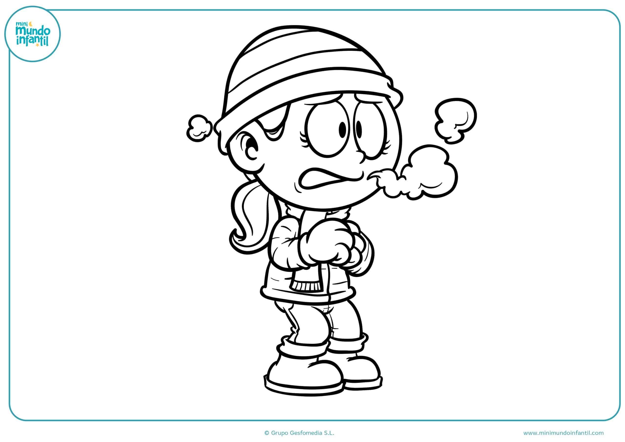 Dibujos colorear niños niñas jugando primaria