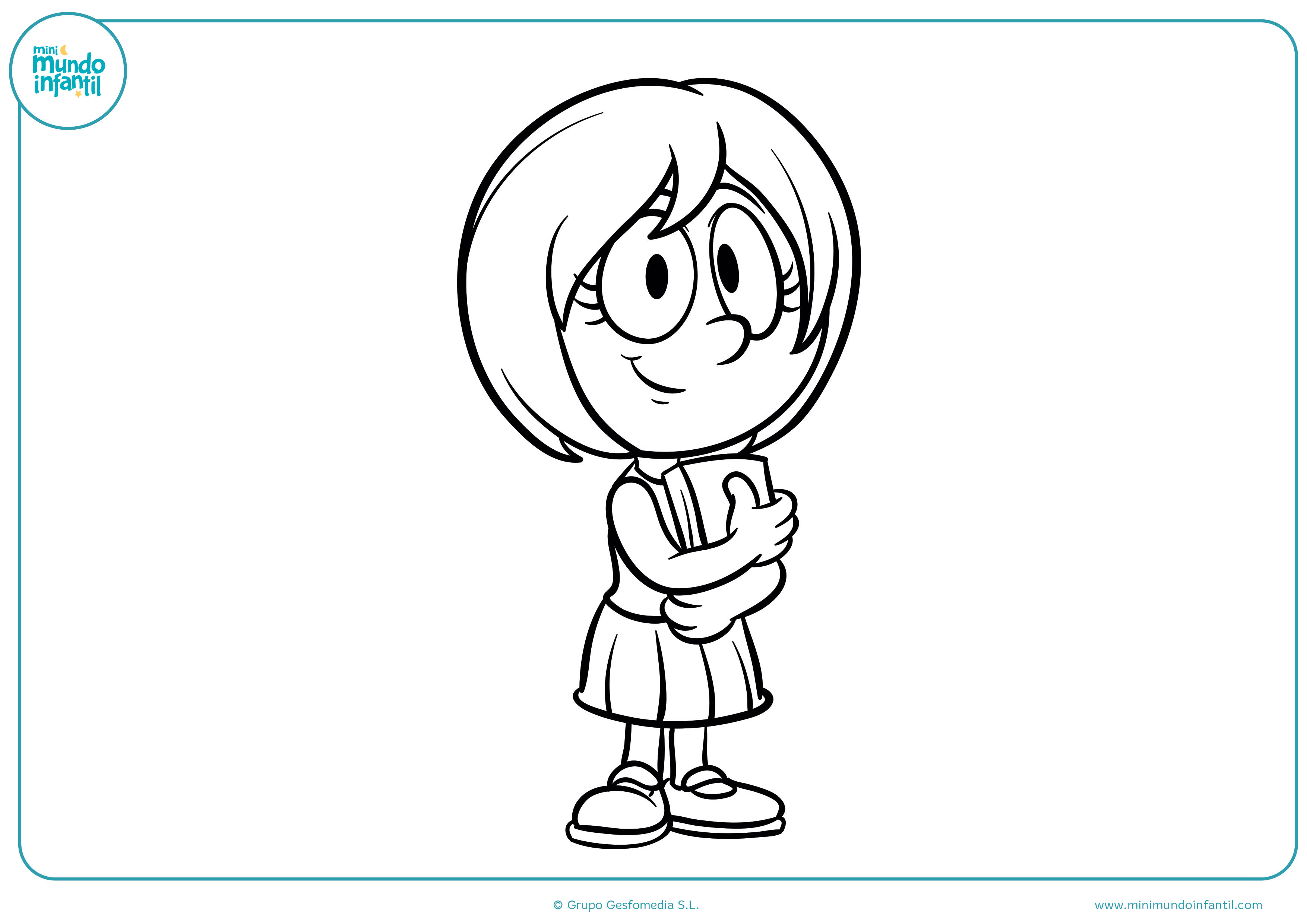 Dibujos colorear niños niñas jugando