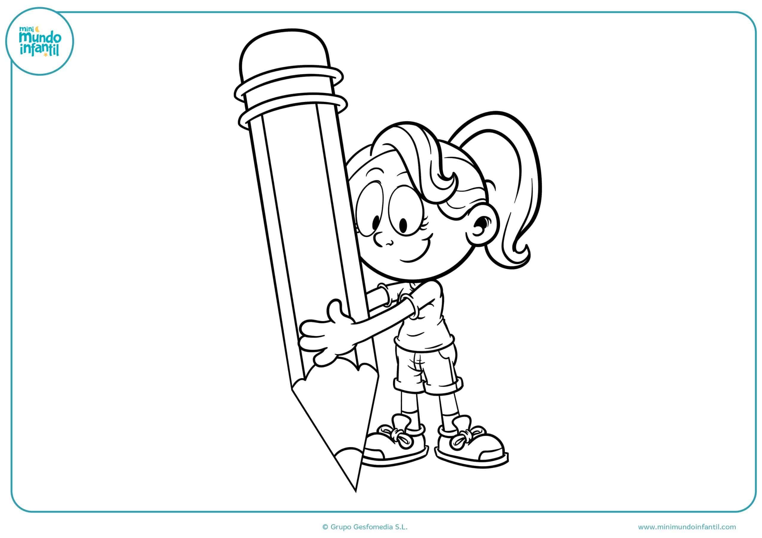 1-Dibujos para colorear regreso a clases