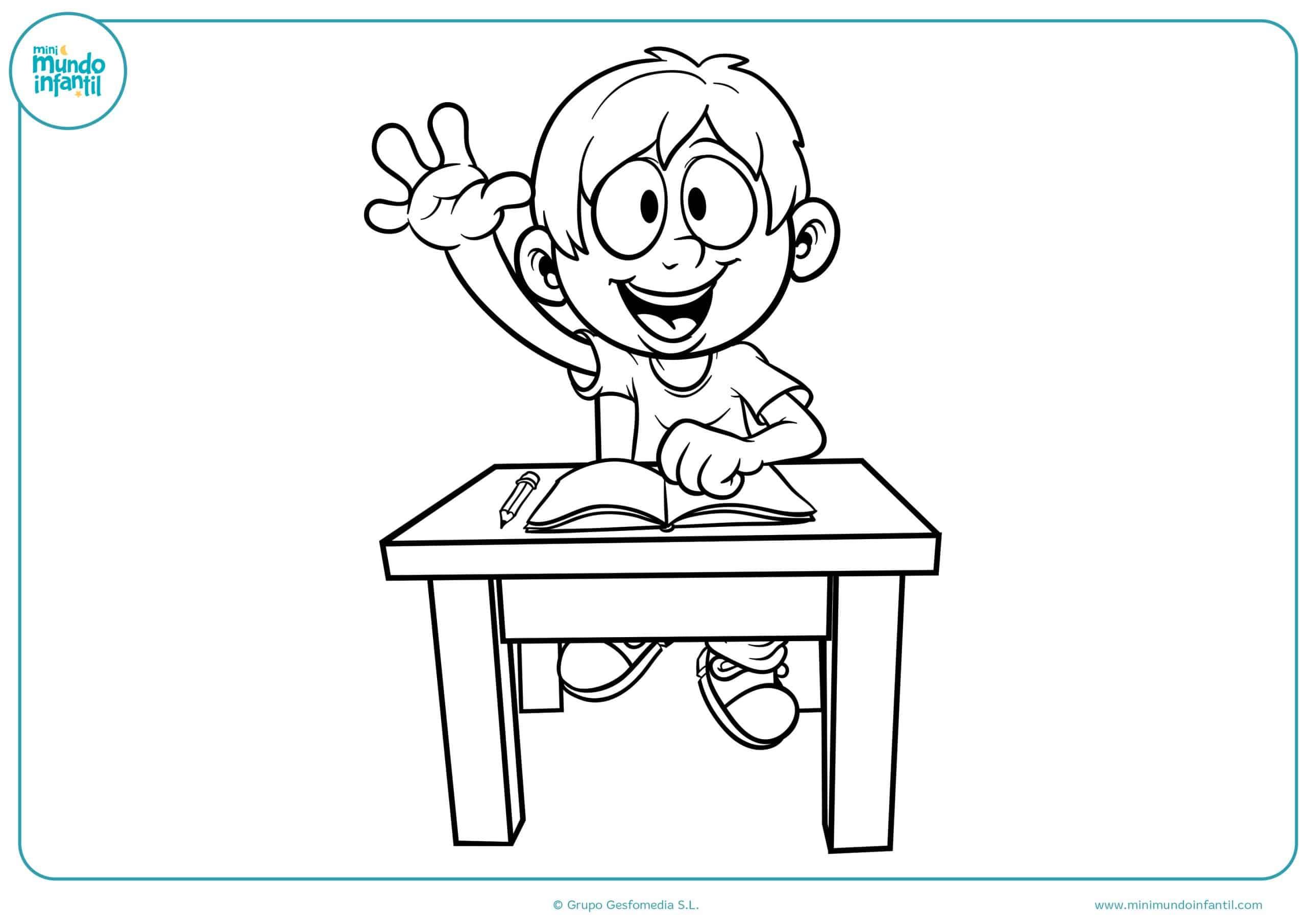 2-Dibujos colorear regreso a clases