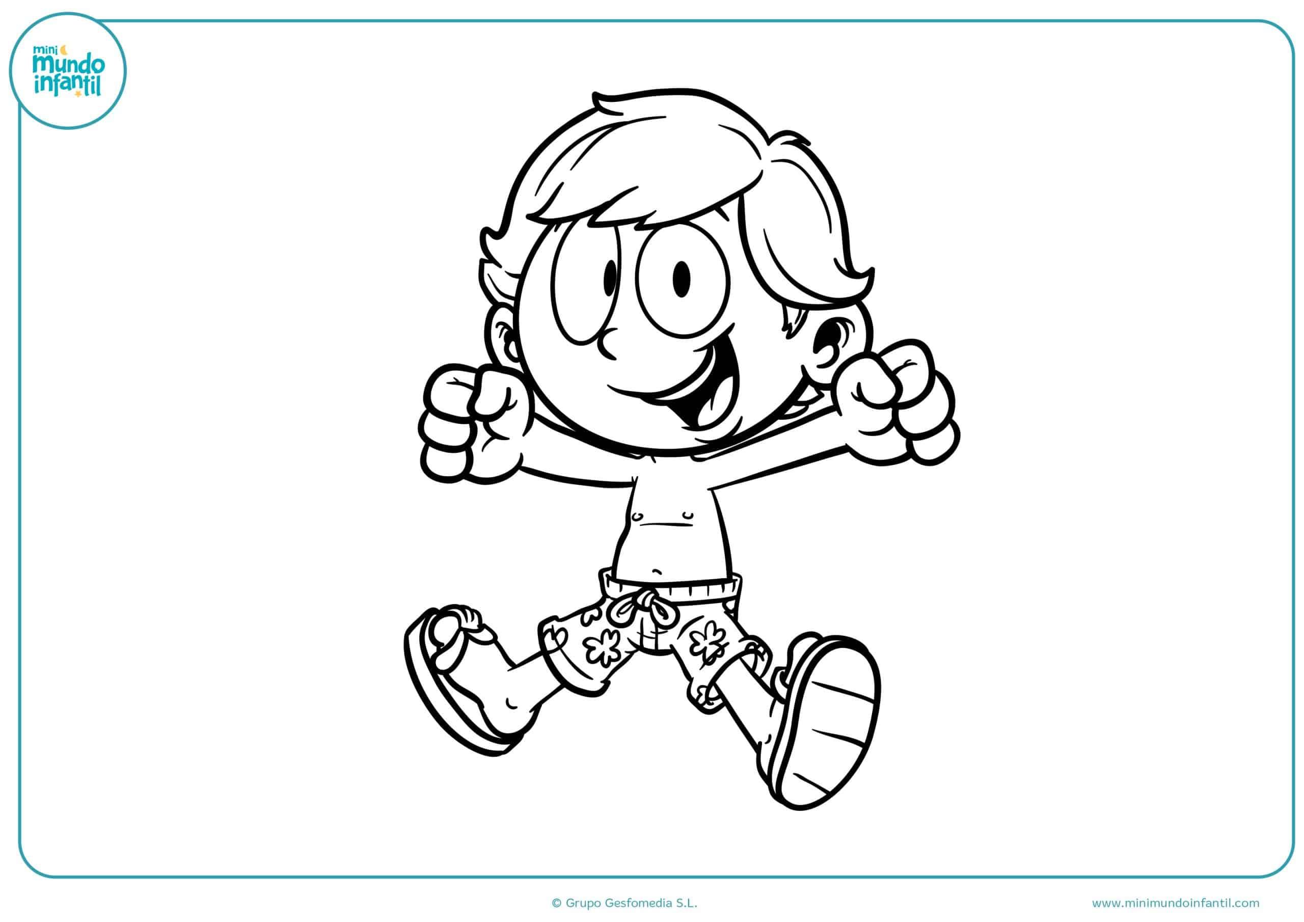 Imprimir dibujos niños niñas jugando
