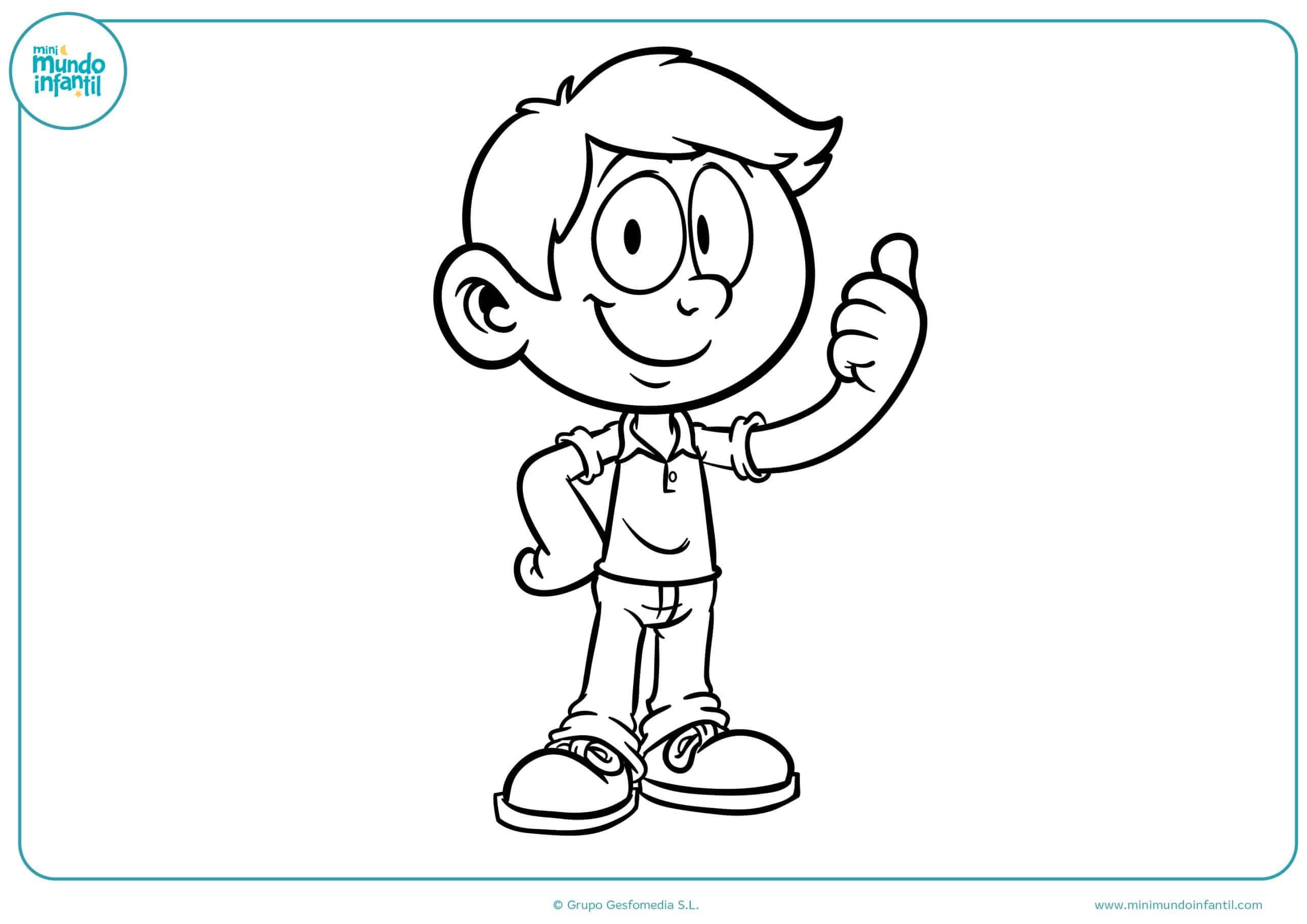 Dibujos De Niños Y Niñas Para Colorear