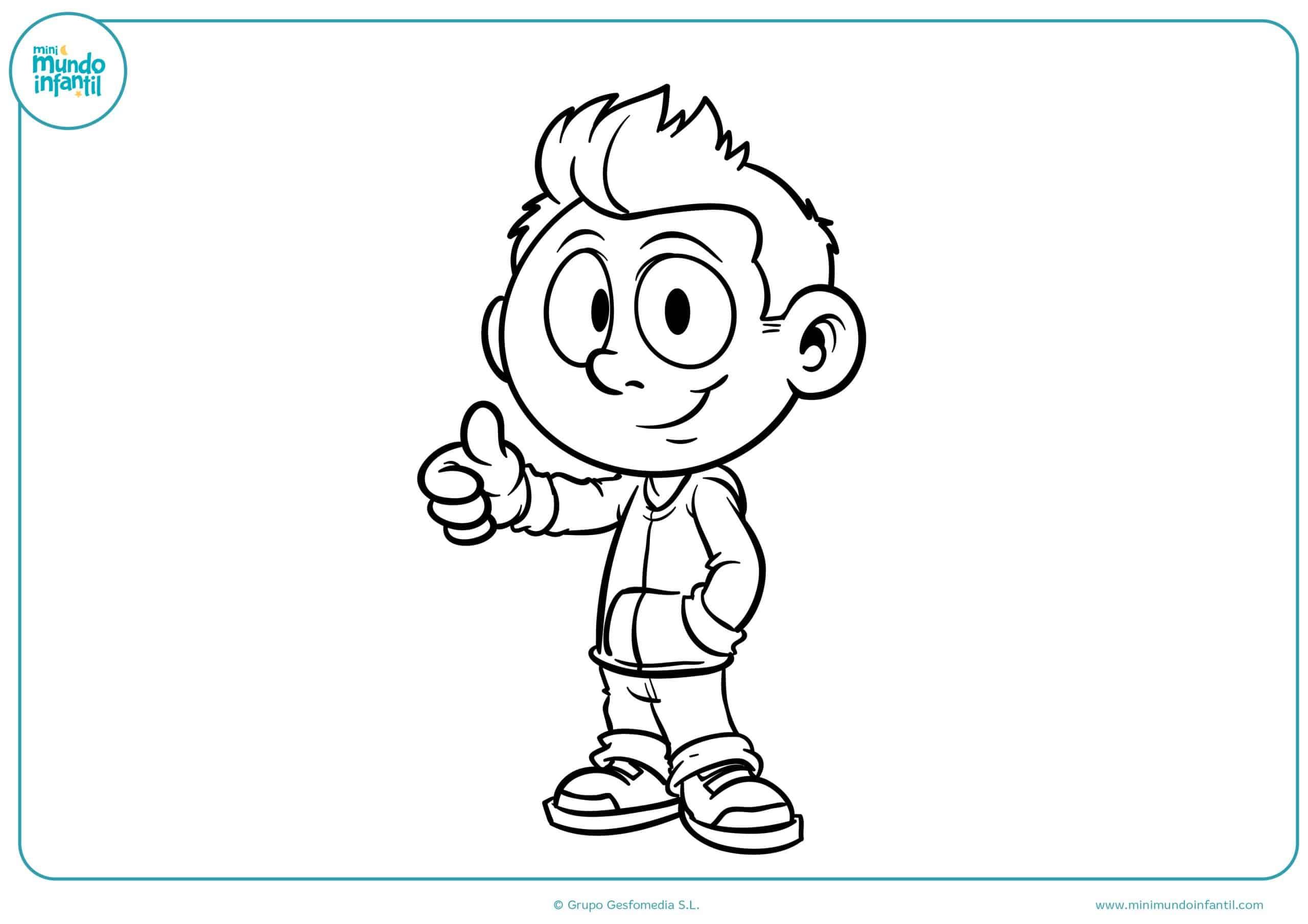 Imagenes Para Colorear De Niña: Dibujos De Niños Y Niñas Para Colorear