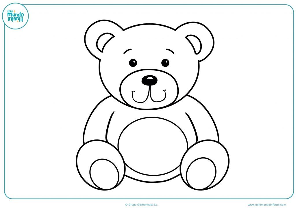Descarga y da color a este dibujo de un oso de juguete