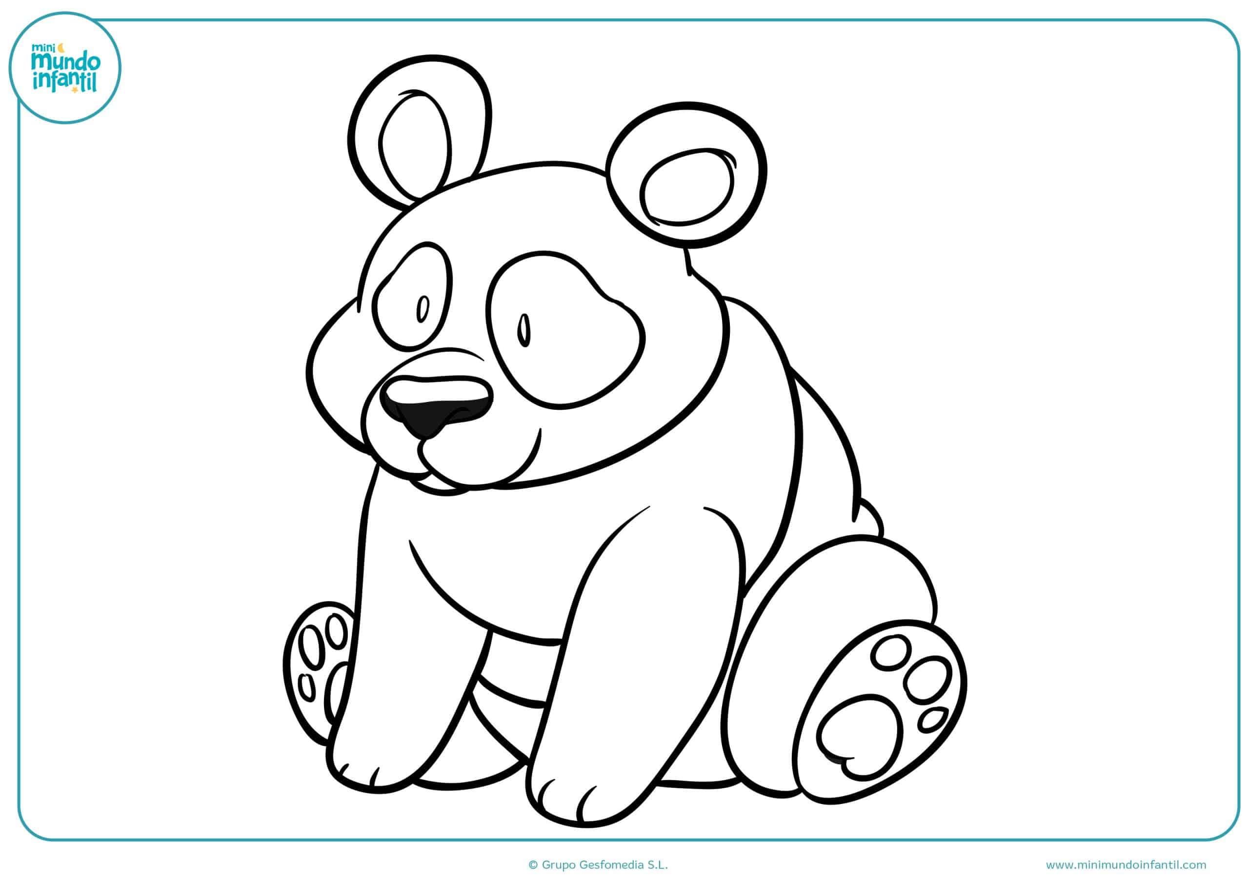 Magnífico Oso Panda Para Colorear Colección de Imágenes - Dibujos ...