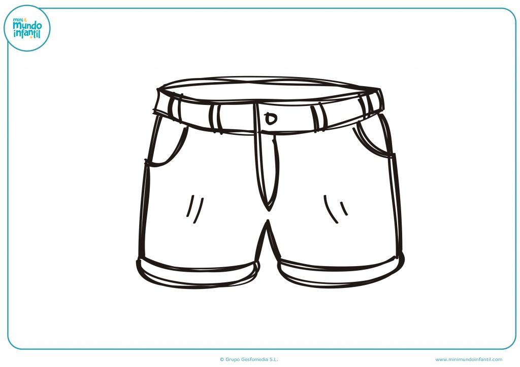 Pinta de colores el dibujo de estos pantalones