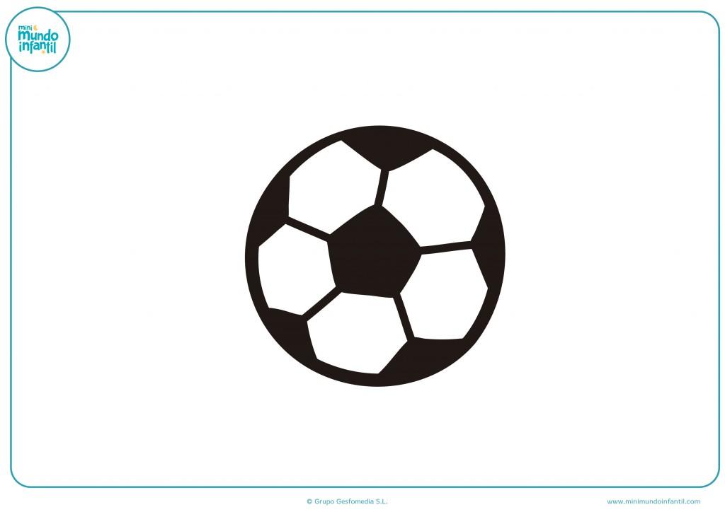 Coloreable de un balón de fútbol