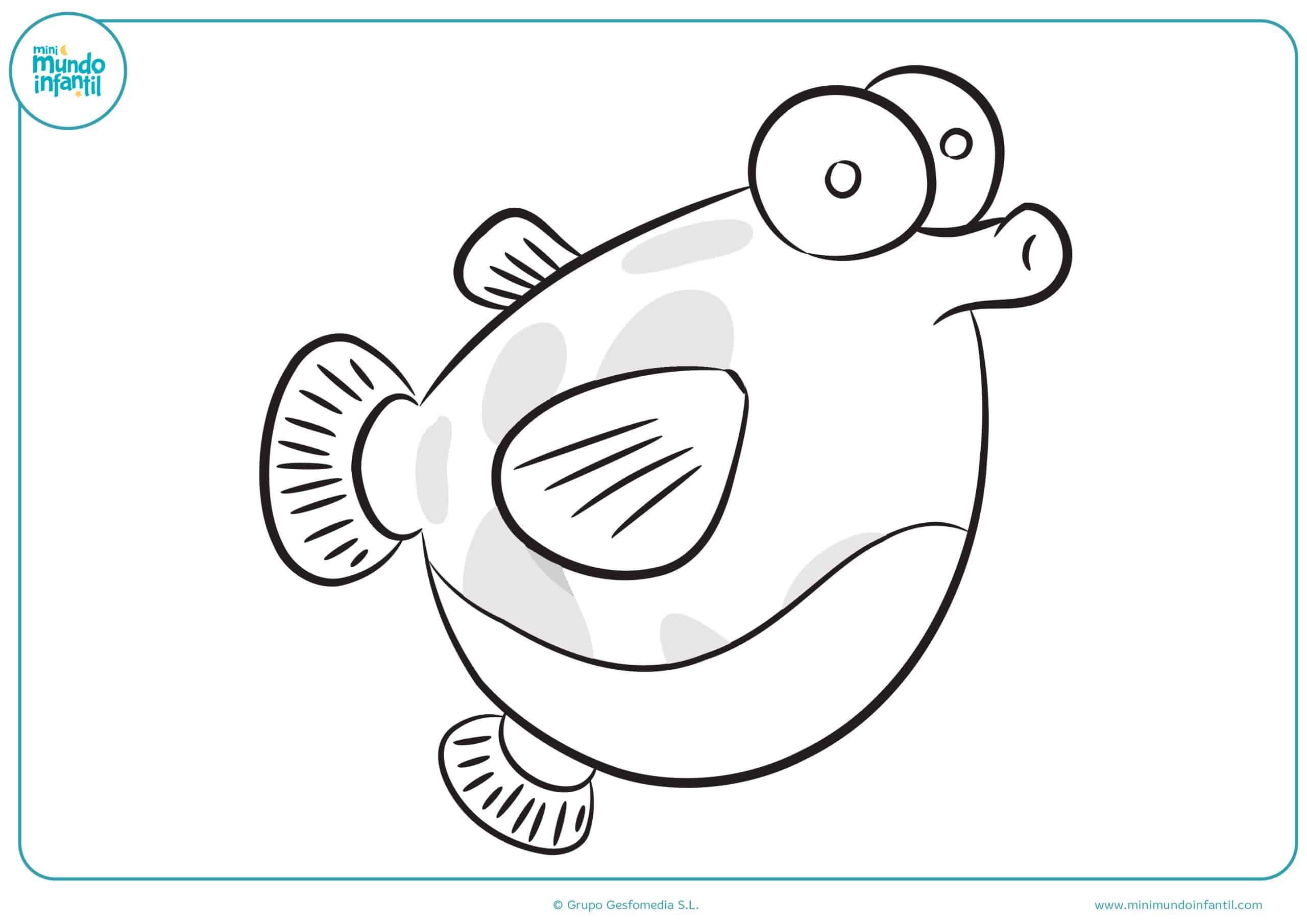 Descargar dibujo marinos animales colorear gratis