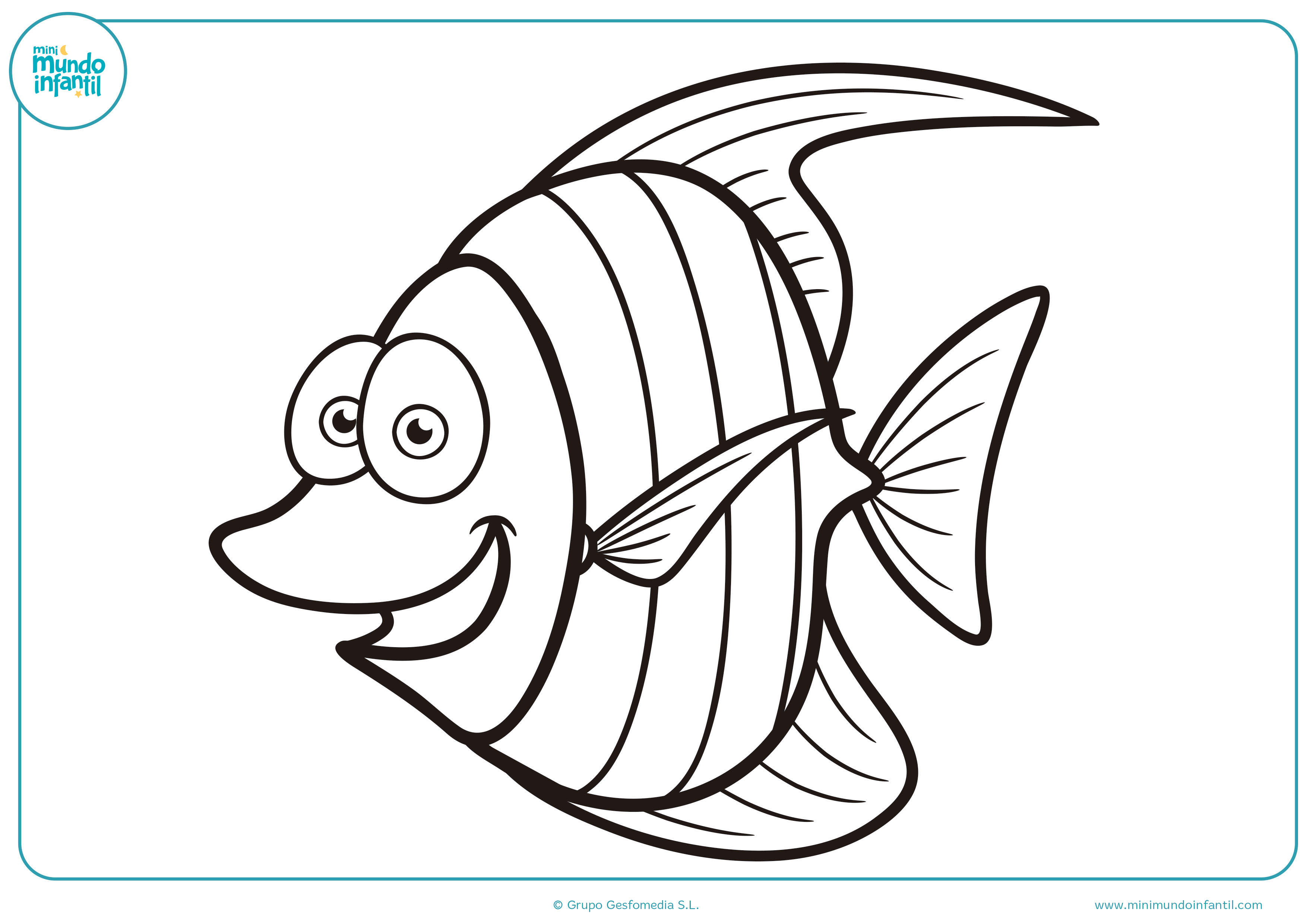 Pintar dibujos animales marinos