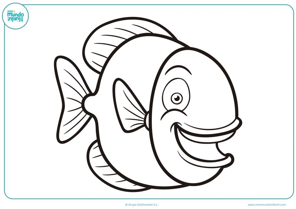 Descarga el pez y píntalo de distintos y llamativos colores