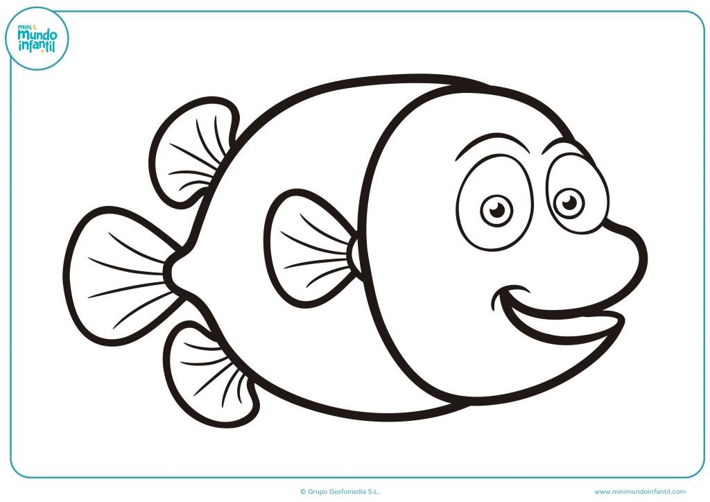 Colorea el pez de mar con los colores que quieras