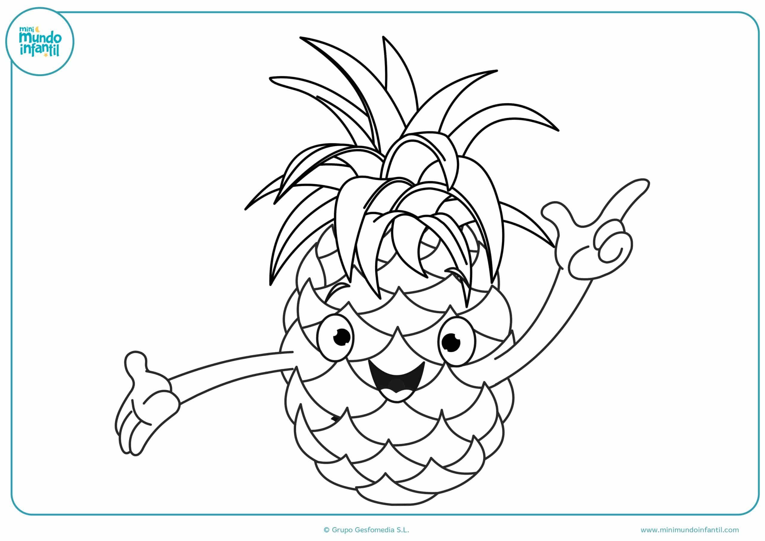 Colorear dibujos frutas gratis