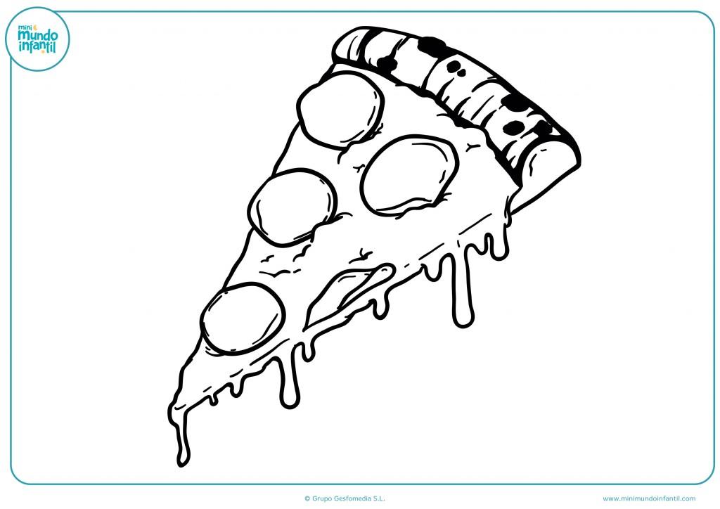 Pinta con colores el dibujo de la pizza