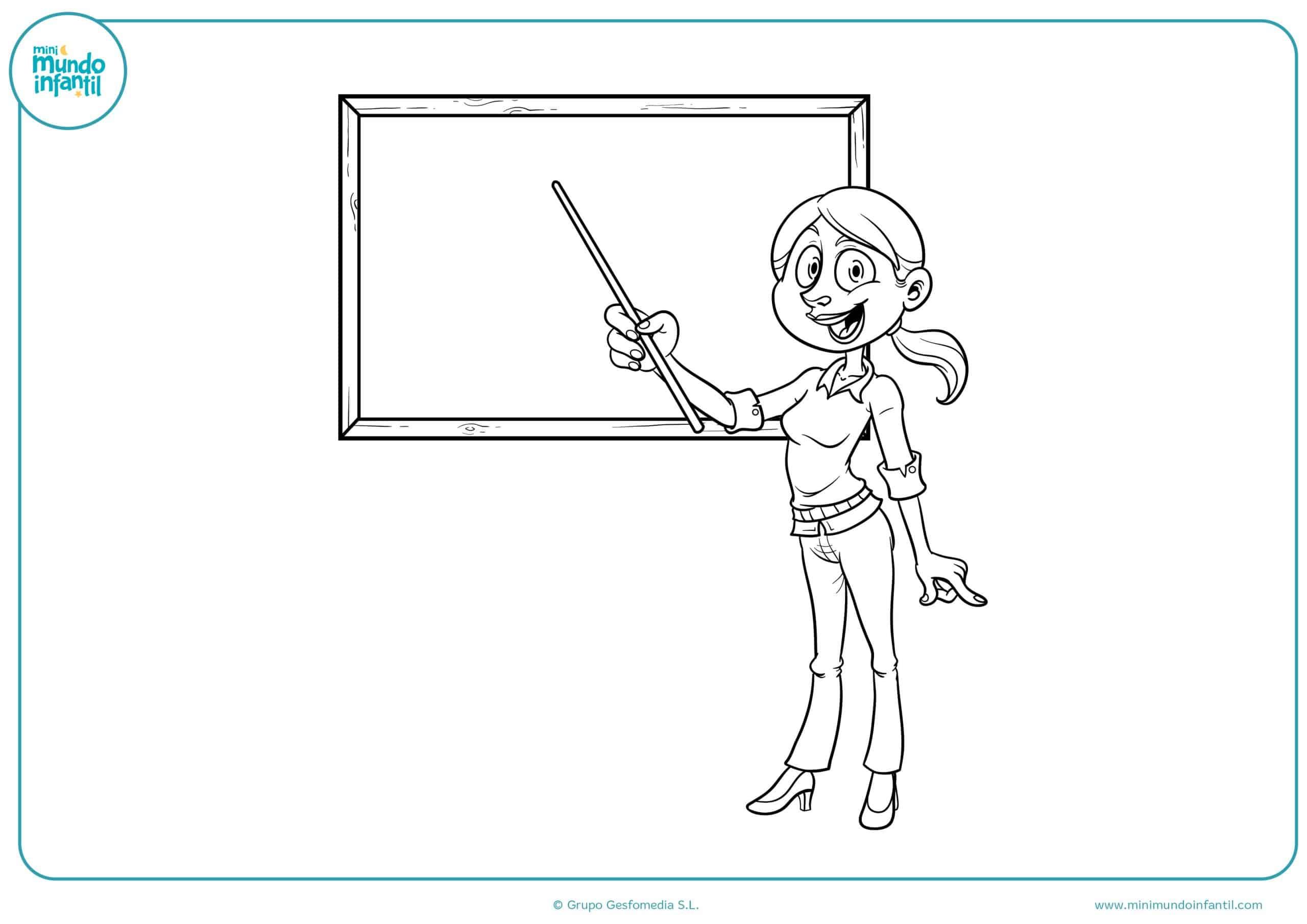 Dibujos De La Clase Para Colorear
