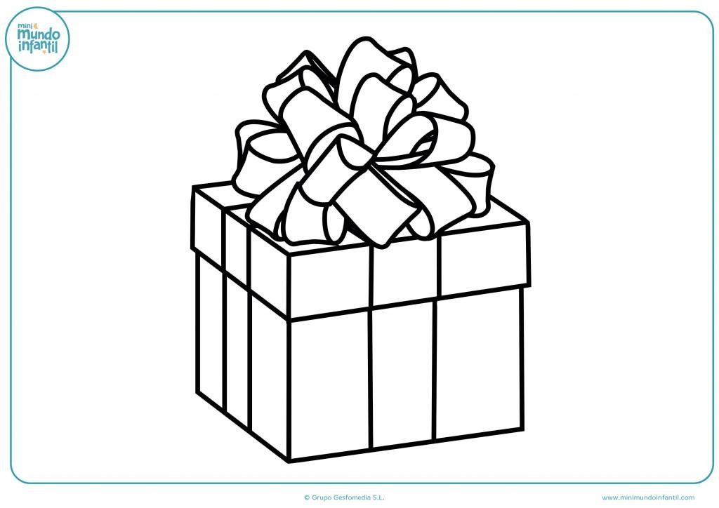 Dibujo coloreable de un regalo