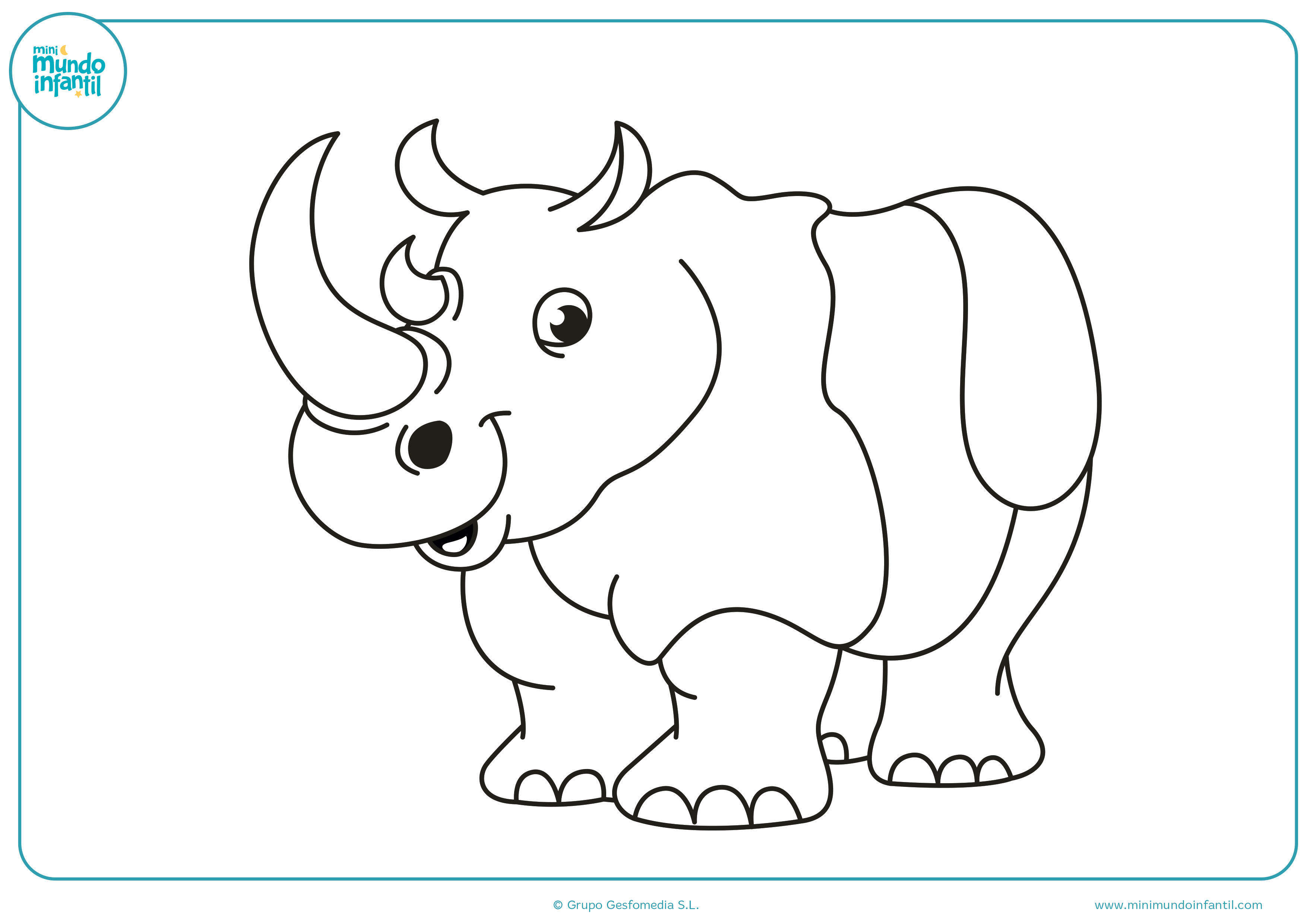 Dibujos animales herbívoros para pintar