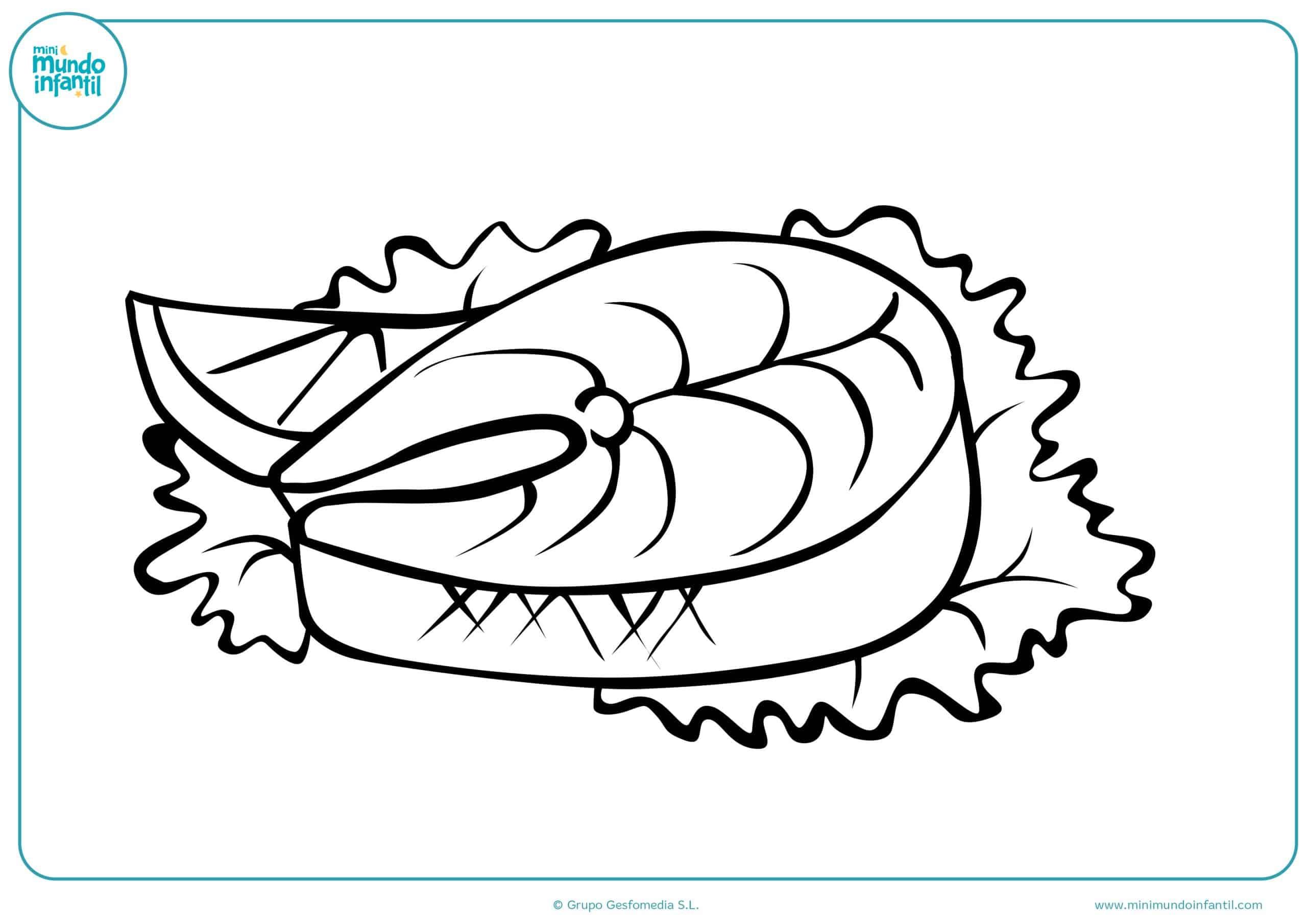 Colorear dibujos pescado