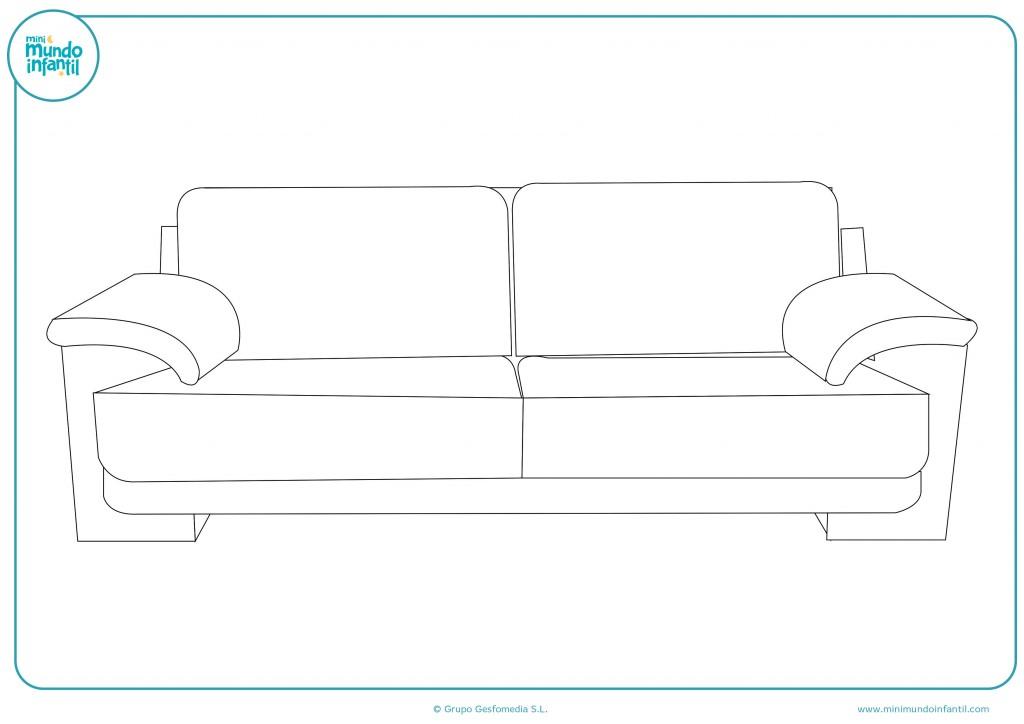 Decora el dibujo de un sofá