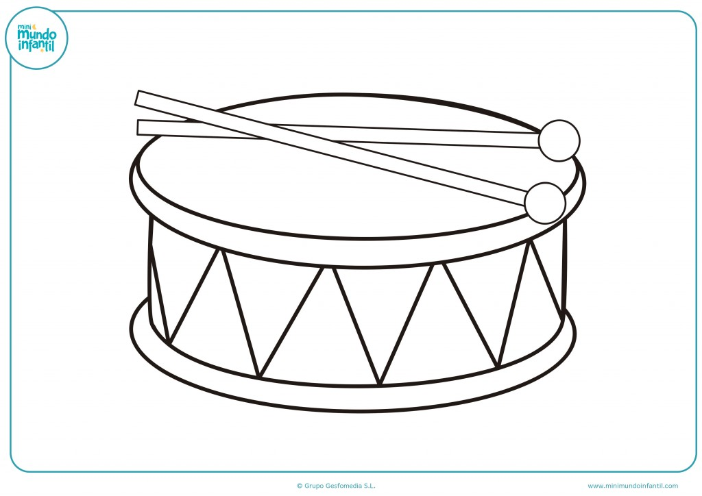 Coloreable de un tambor