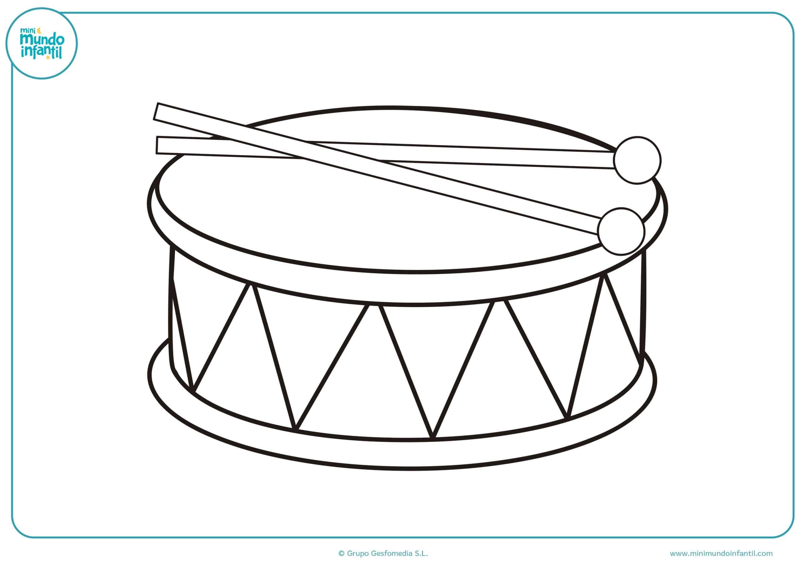 Instrumentos musicales colorear primaria
