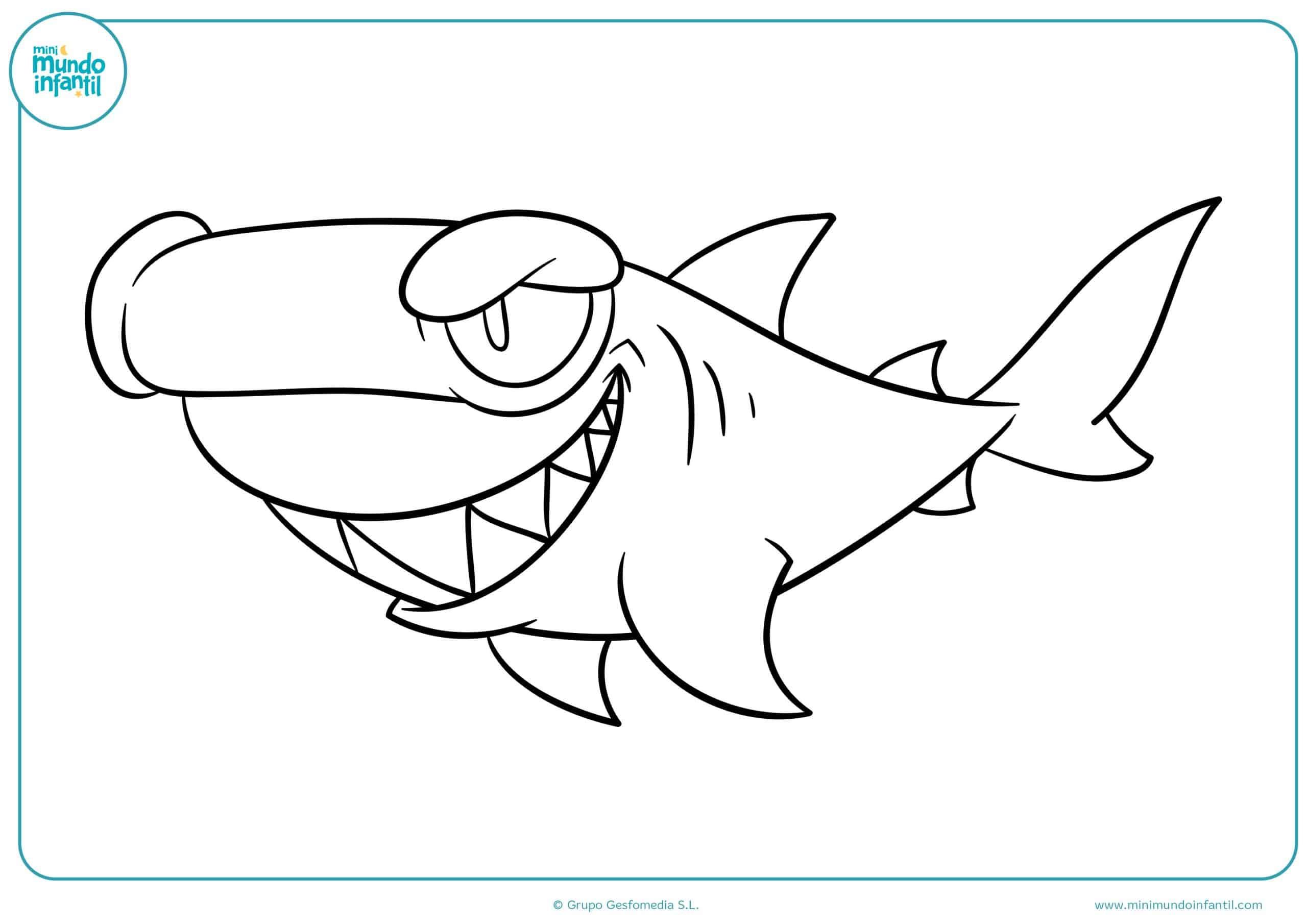 Animales marinos colorear dibujos