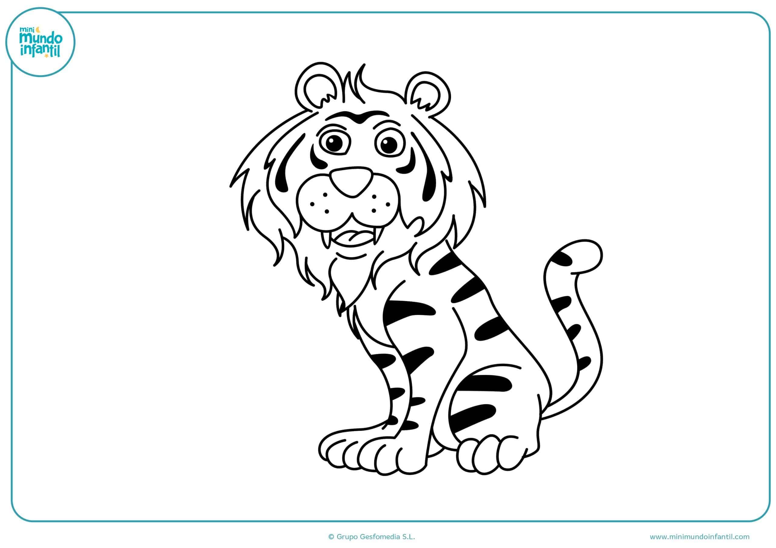 Dibujos colorear animales carnívoros fáciles