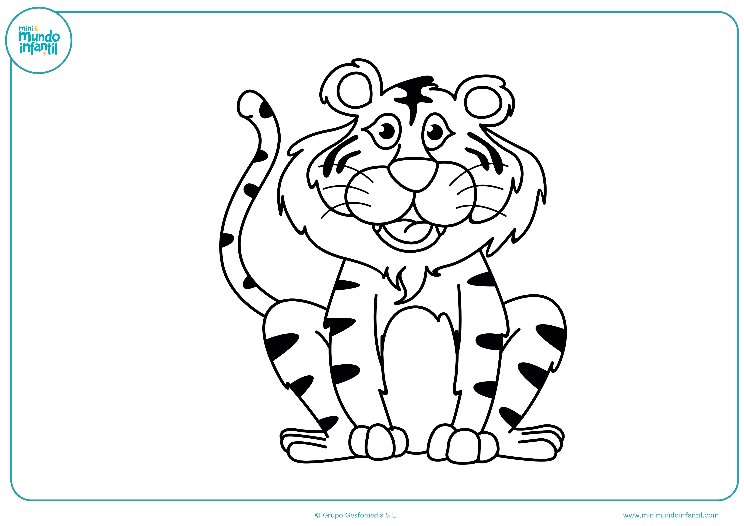 Colorear dibujos animales salvajes